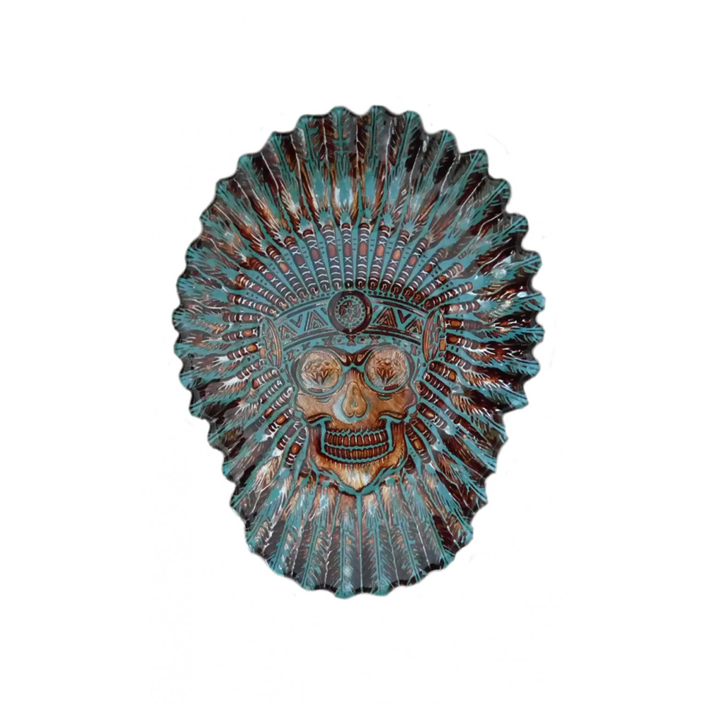 INDIAN HEAD SHAPE PLATE 30 CM.
