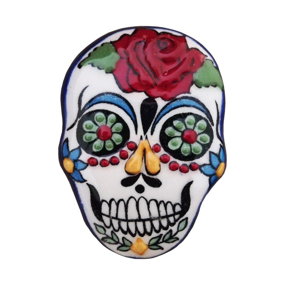 Ceramic Magnet Skull 003