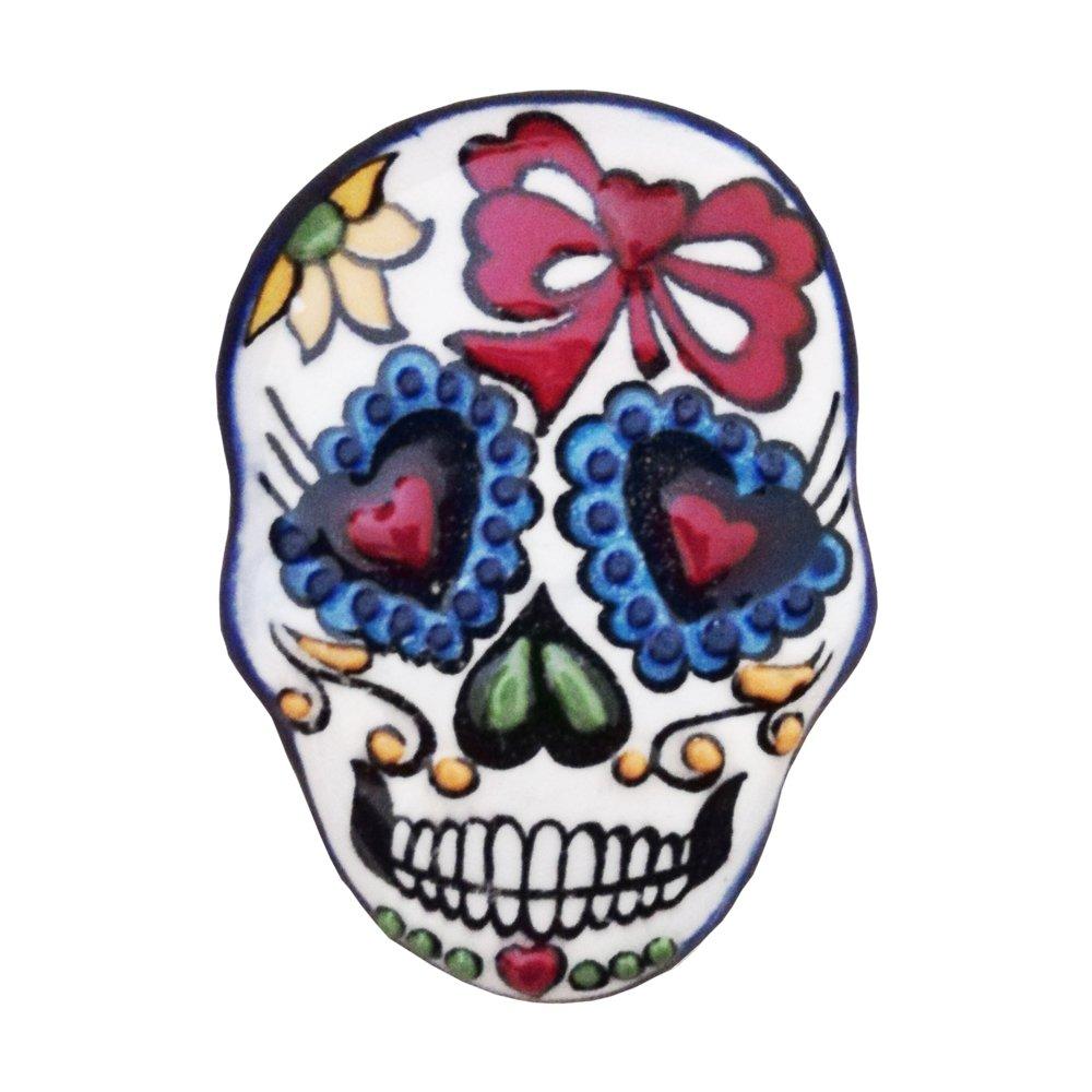 Ceramic Magnet Skull 005